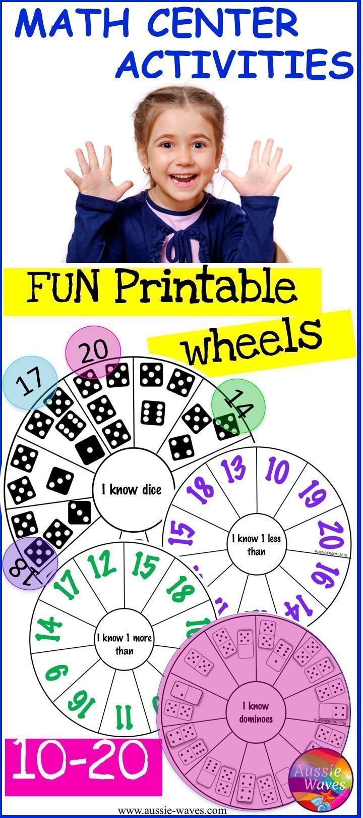 Kinder And Yr 1 Math Activities Number Wheel Tasks Numbers 10 20