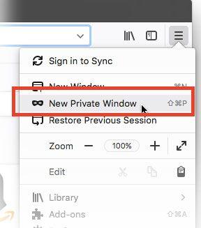 private tab menu 57