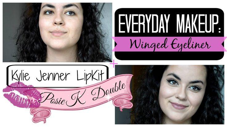 My Everyday Makeup: Winged Eyeliner ♡ Kylie LipKit Double! // UpInTheHeels