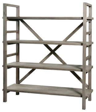 Farmhouse Baker Rack Bookshelf - eclectic - buffets and sideboards - new york - Zin Home.....for kitchen or bookshelves