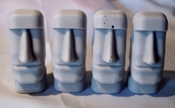 Zen Maoi Easter Island Heads   $11.90 - Concrete With Magnet - 3 Peices