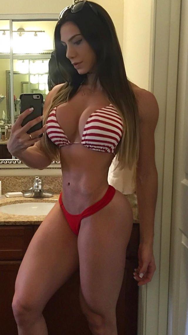 Fitness girl model naked