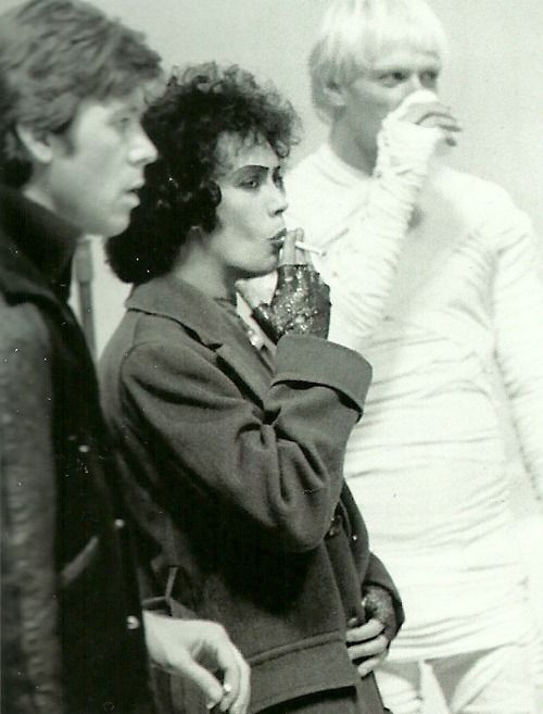 A bit random, but I always loved the Rocky Horror Picture Show, and this between-takes pic tickles my fancy.