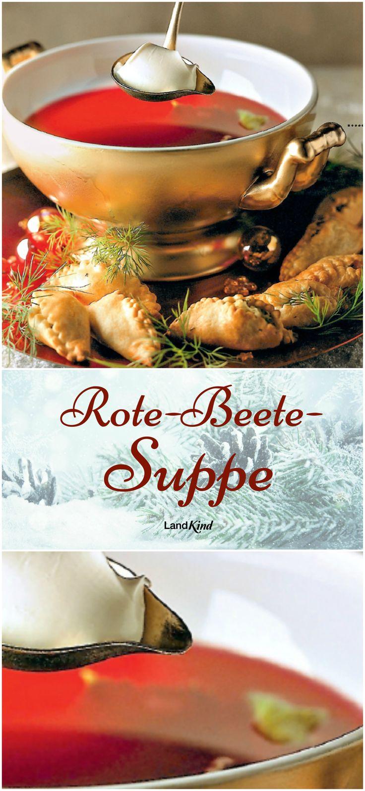Im Winter haben Suppen Hochsaison. Sie liefern alles, was der Körper braucht, und wärmen von innen, wenn es draußen kalt ist. Für diese Rote-Beete-Suppe braucht man: 500 g Rote Bete, 100 g Knollensellerie, 300 g festkochende Kartoffeln, 100 g Karotten, 1 Zwiebel, 50 g Butter, 1 l Rindfleisch- oder Gemüsebrühe, Salz, Pfeffer, 1 Lorbeerblatt, 3 EL Tomatenmark, 100 g Crème fraîche und einige Zweige Dill.