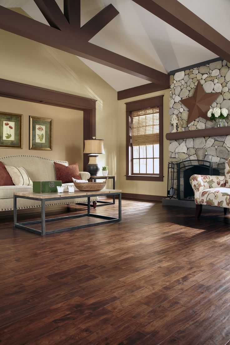 Wide plank floors have an eclectic beauty that add character to any space. [Burnished Acacia | Flooring Trends 2015]