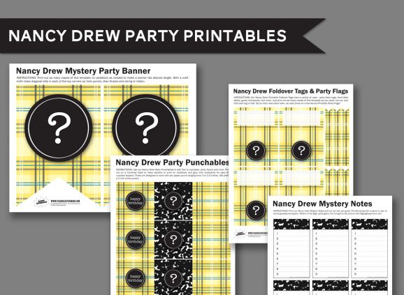 Free Printables for a Nancy Drew Birthday Party of Nancy Drew Book Club