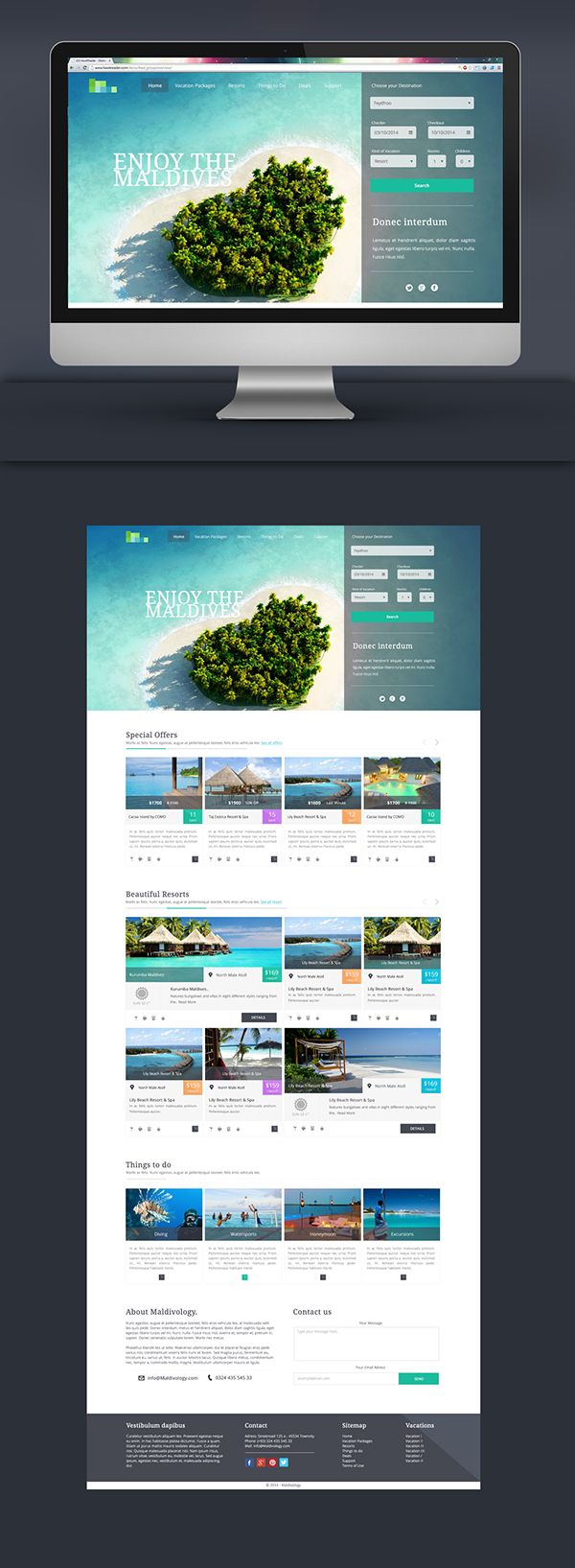 Maldives Vacation Packages - Webdesign on Behance