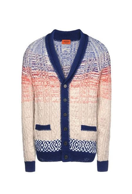 MISSONI Cardigan with fading twill £ 378.00  #MISSONI #CARDIGAN #COTTON #VISCOSE #WOOL #LEIN