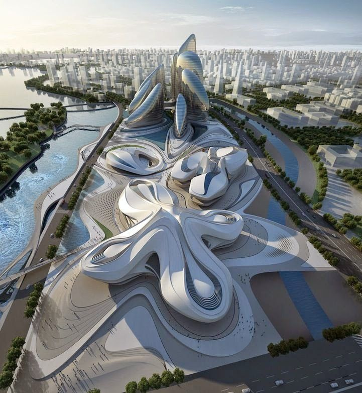 The mammoth project by Zaha Hadid Architects in China