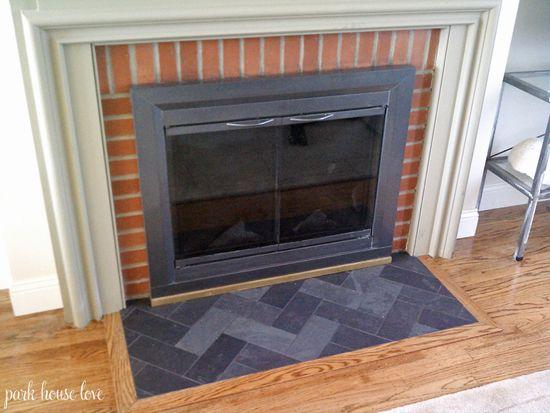 Slate Tiles For Fireplace Hearth   Tile Design Ideas