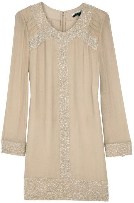 Embellished silk tunic dress !