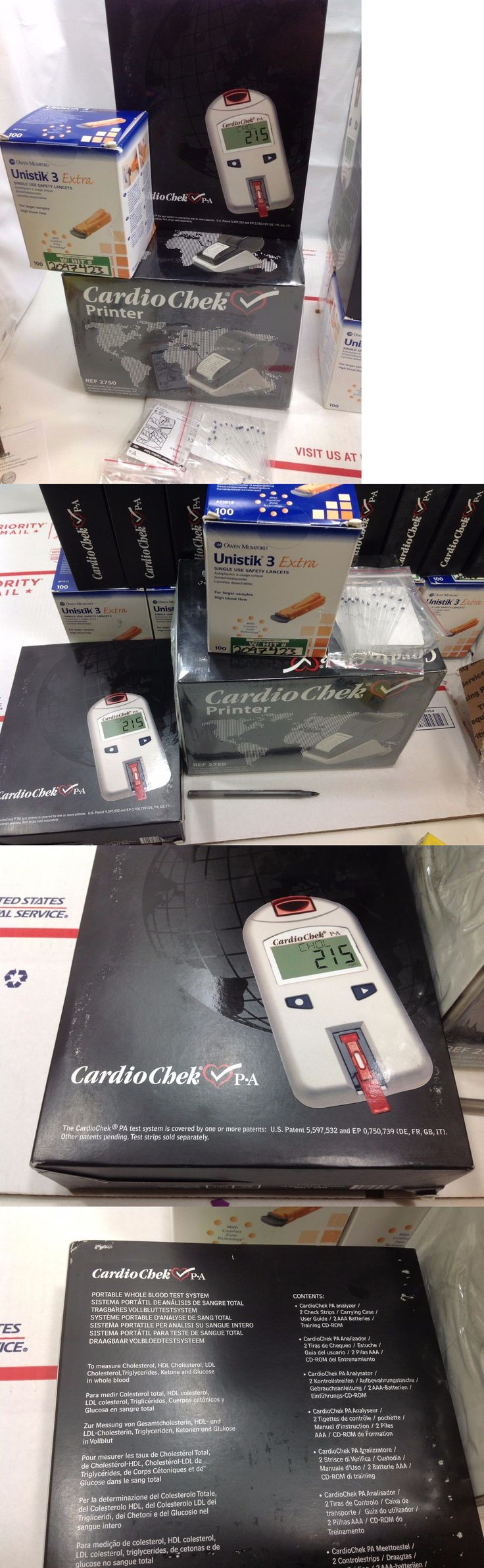 Cholesterol Testing: Complete Cardiochek Pa Analyzer W Printer Unistik Lancets 4 Pk Capillary Tube #2 BUY IT NOW ONLY: $555.0