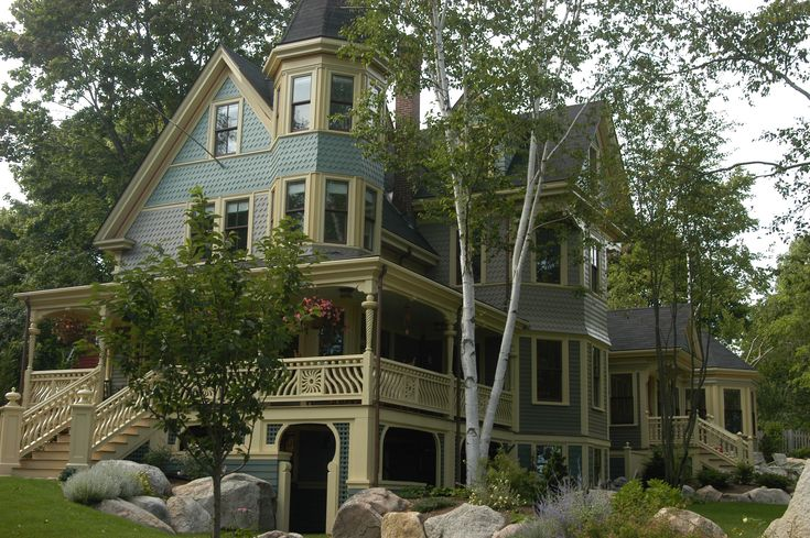 32 best images about historic new england homes on for Custom built victorian homes