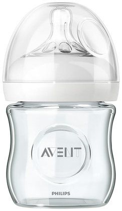 Avent Natural Glass Bottle - 4 oz - Free Shipping