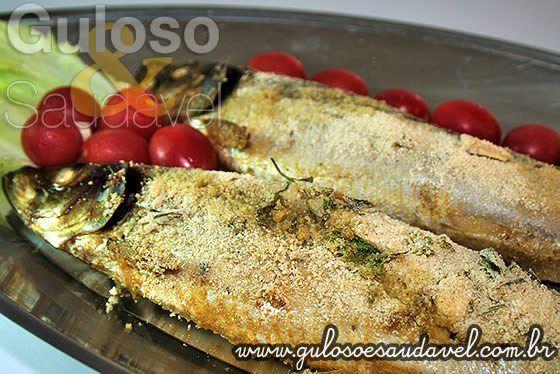 Temos esta opção de #almoço fácil, nutritivo, delicioso e econômico!  É a Sardinha Empanada Assada super crocante e com sabor irresistível! 😋    #Receita aqui => http://www.gulosoesaudavel.com.br/2012/12/26/sardinha-empanada-assada/