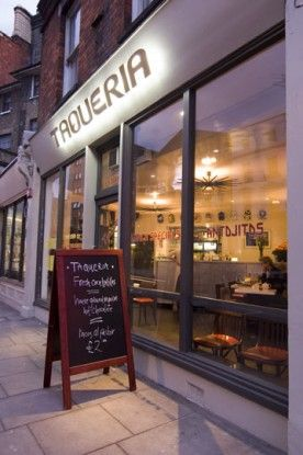 The Taqueria in Westborne Grove London serves sublime Mexican tacos, ceviche and other favourites. They even make their own freshly baked tortillas....it's one of our favourites.