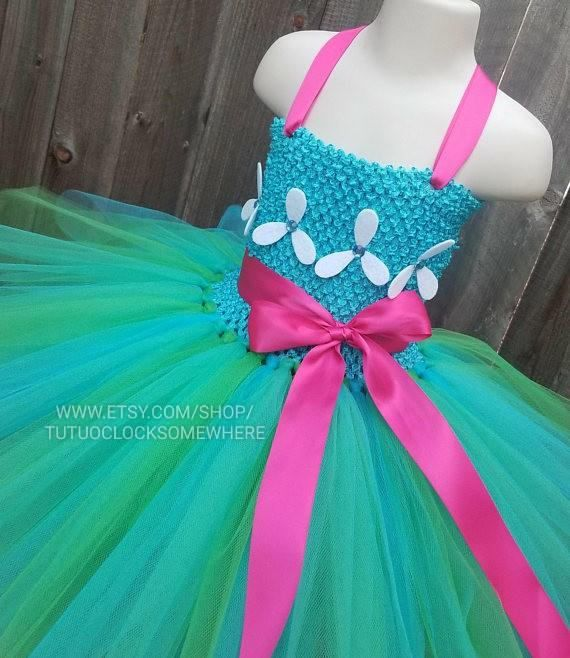 5af2bd51d This listing is for a Poppy Troll inspired tutu dress. Have a new request?  Send it my way! See other versions here: