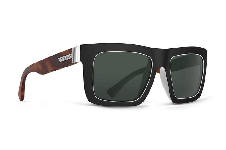 VonZipper Donmega sunglasses in black white tortoise with vintage grey lenses SMRFADON-BTG