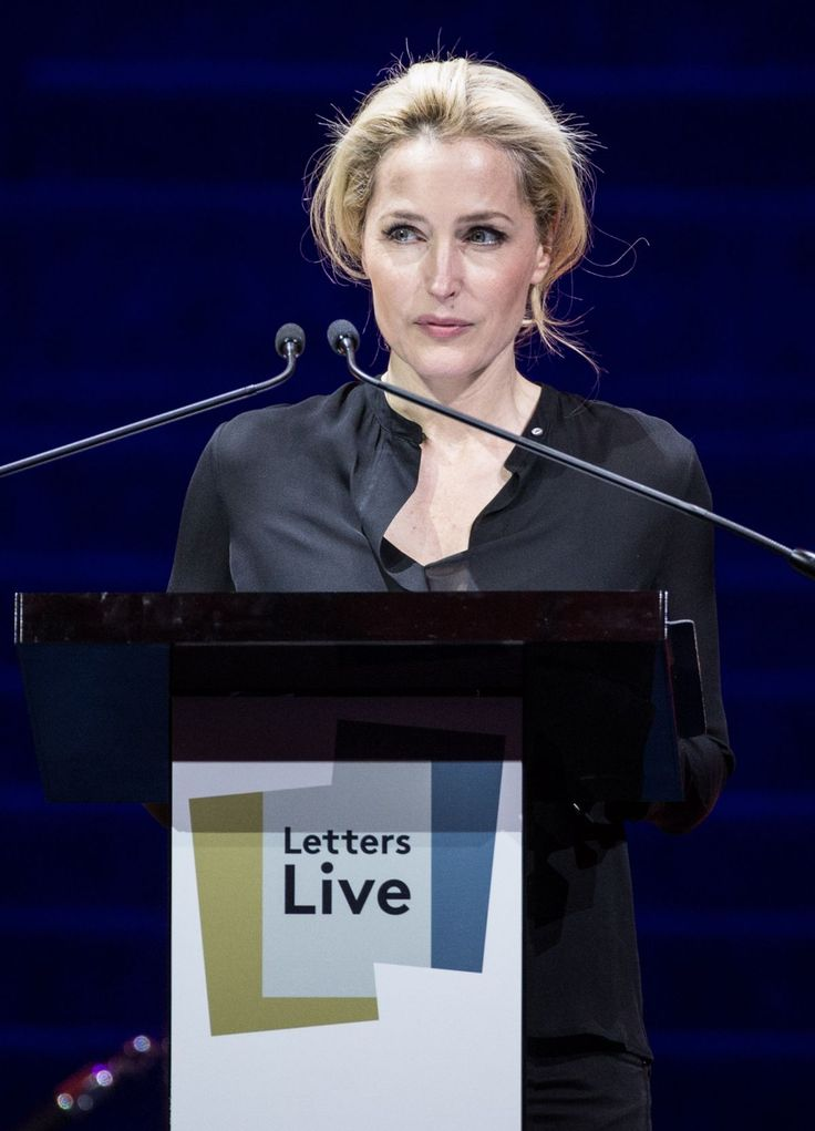 GILLIAN ANDERSON at Letter Live 2016 at Freemasons