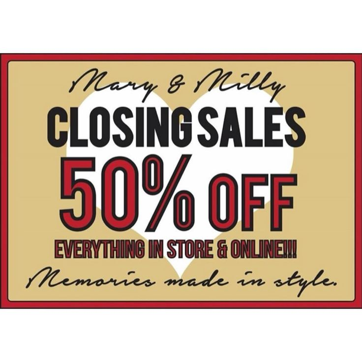 In case you haven't heard, the Mary & Milly story so far is coming to an end. I want to thank each and everyone of you for your support over the past few years. The team at M&M HQ want to go out on a high and are making sure you to continue turning heads in style with our fabulous closing sale! 50% off everything at the boutique and online! 21 Guildhall Street, Preston City Centre or at www.maryandmilly.co.uk where we're still offering FREE UK DELIVERY!!