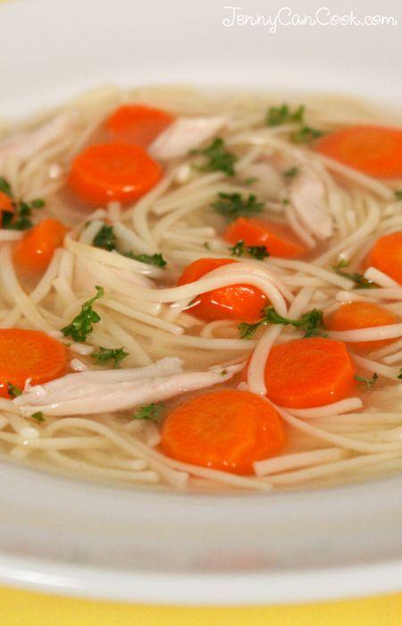 Homemade Chicken Soup recipe from Jenny Jones (JennyCanCook) #JennyCanCook