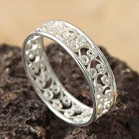 Sterling silver band ring, 'Royal Filigree' from @NOVICA, They help #artisans succeed worldwide.