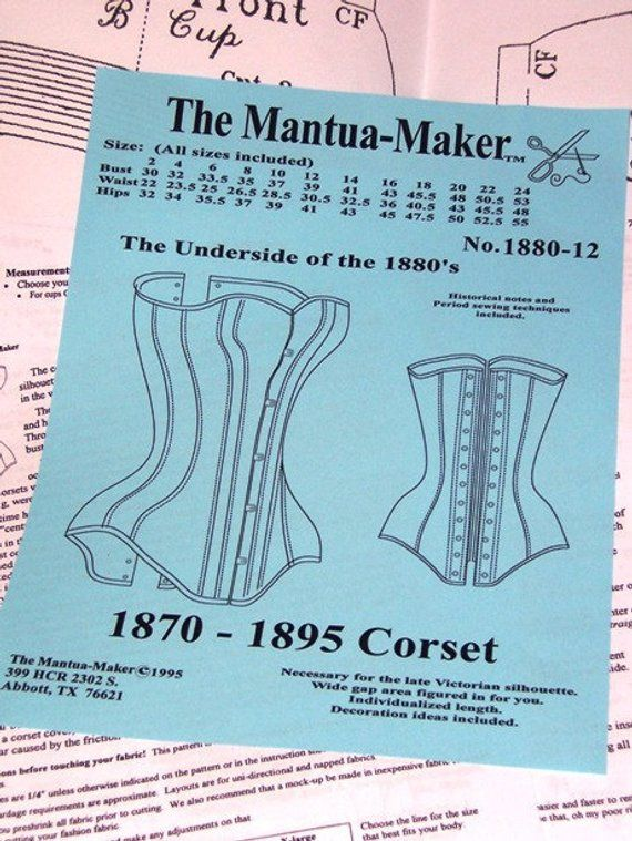 682e51816 Sexy Victorian Corset Sewing Pattern for 1870 to 1895