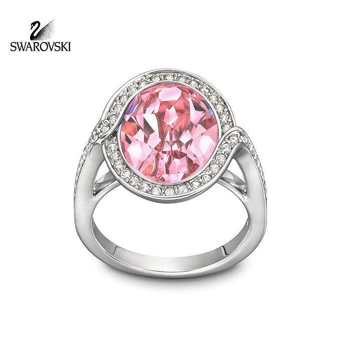 Swarovski Crystal Jewelry Ring Pink Crystal TYRA #1179732 New