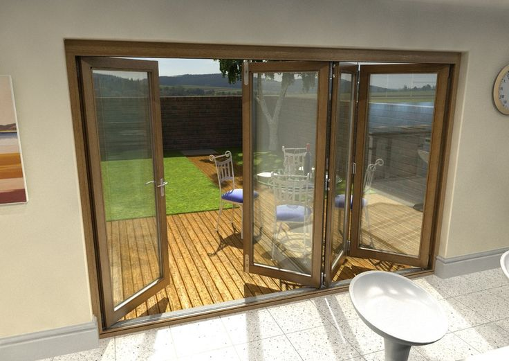 3m upvc bifold doors brown | 3m (10ft) Oak Fully Finished 54mm BIFOLD PATIO DOORS - 1.4 U-Value ...