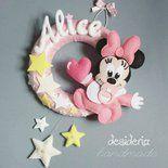 Per tutte le mamme appassionate della dolcissima Minnie...Desideria Handmade propone una ghirlanda nascita con una Baby Topolina pronta ad annunciare l'arrivo della propria piccolina!!!  Il diamet...