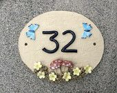 House numbers, house number plaque, ceramic address plaque, custom made door numbers. - pinned by pin4etsy.com