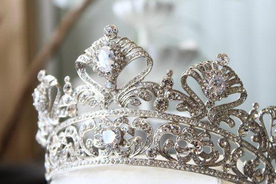 Full Bridal Crown, Swarovski Crystal Crown, CORDELIA Crown, Silver Bridal Diadem, Crystal Wedding Tiara, Diamante Tiara, Bridal Tiara