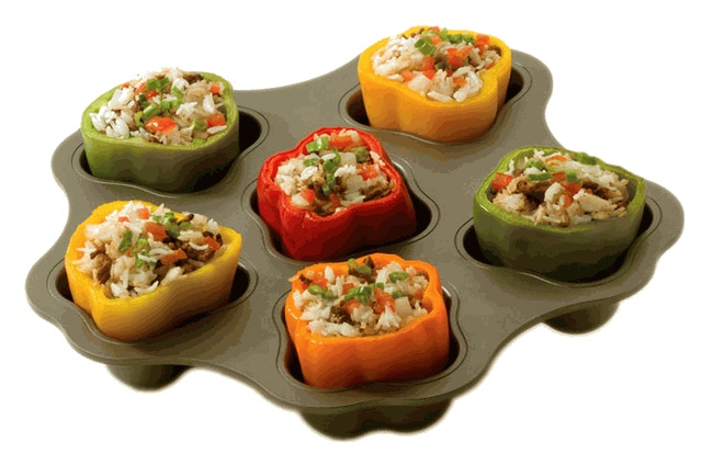 Stuff it up pan for making stuffed bell peppers!