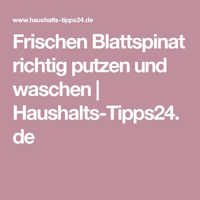 Frischen Blattspinat richtig putzen und waschen | Haushalts-Tipps24.de
