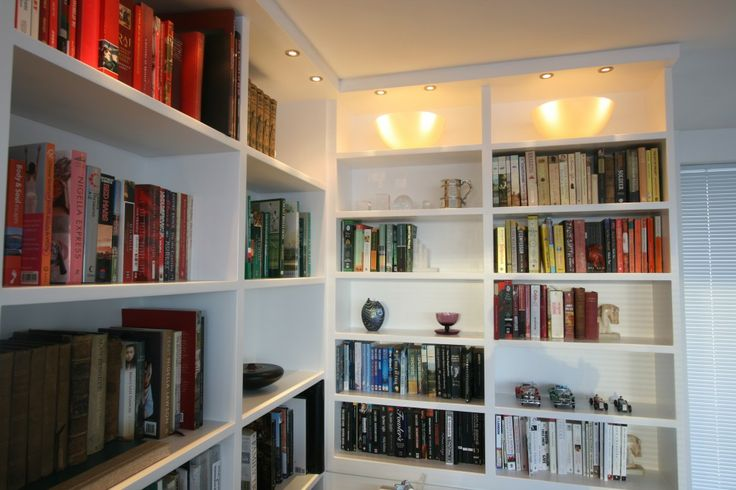 repisa, biblioteca, estantes