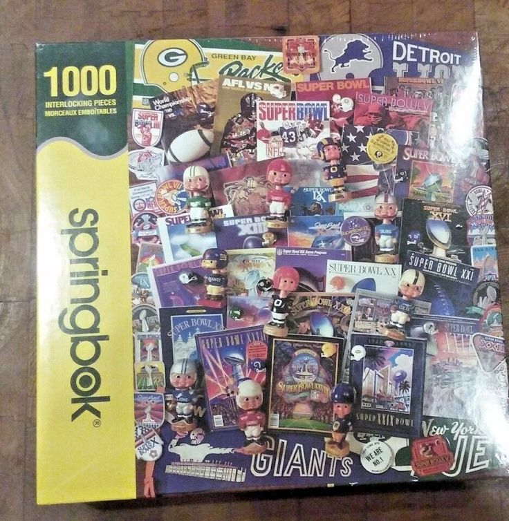 NEW Football Fantasy 1000 Piece Jigsaw Puzzle NEW Springbok 2008 Super Bowl NFL  #Springbok