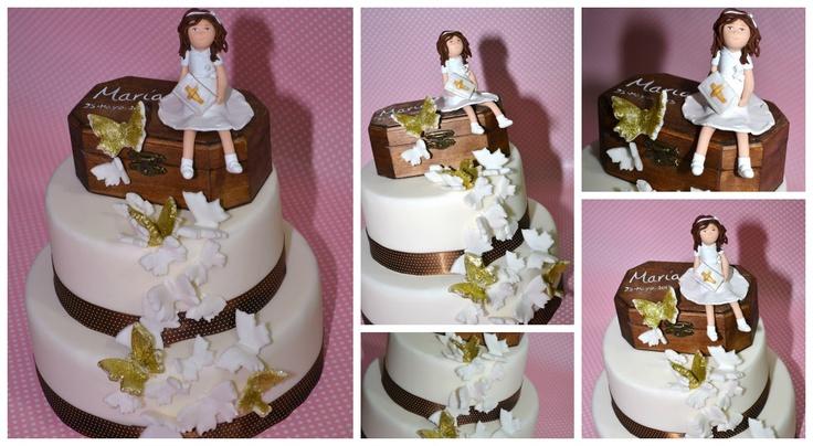 TARTAS DE COMUNION : Pecaditos Dulces - Madrid - #CAKE #CAKES #FONDANT #FIMO #TARTA