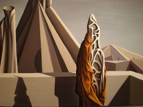 Kay Sage 1943 'Too Soon for Thunder', Nelson-Atkins Museum of Art, Kansas City, Missouri by hanneorla, via Flickr
