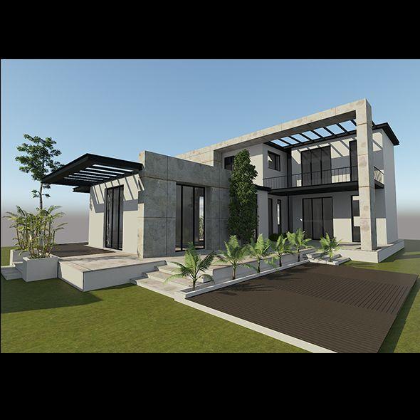 Modern Villa Exterior Fully Customizable 3d Model Of A Building 3d 3dmodel 3ddesign Vr Ar 3dsmax Design E Building Design House Exterior House Styles