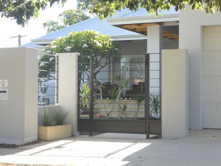 22 best modern gate designs images on pinterest modern for Modern house gate