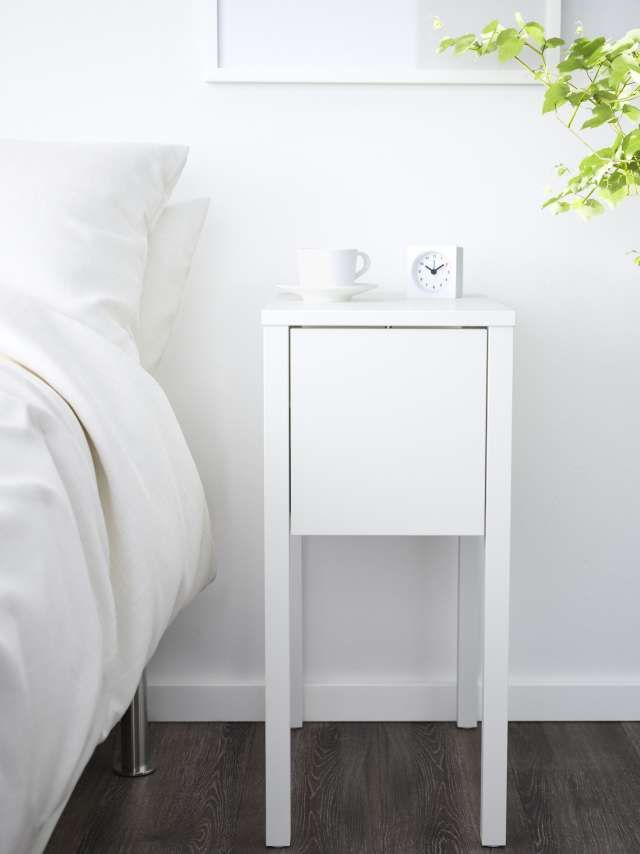 Design Guide Nightstands Perfect For Small Bedrooms Ikea Nordli Small Nightstand Bedside Table Ikea