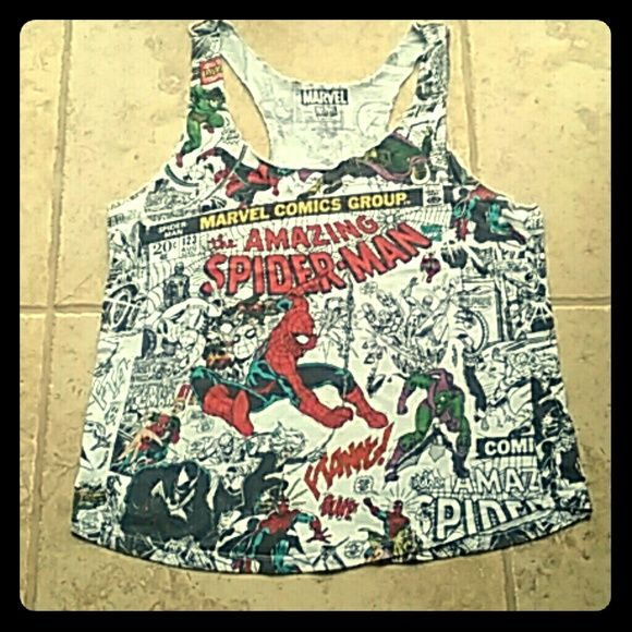 Graphic tank top Spider man comic tank top Tops Tank Tops