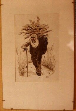 oude man, gewassen inkt door Herman Rollfs of Roelofs
