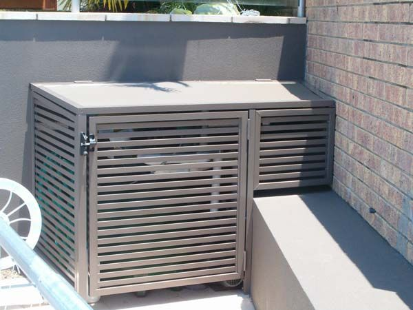 Rubbish Bin Aircon Screening Screen Enclosures Superior Screens Bin Covers Pinterest