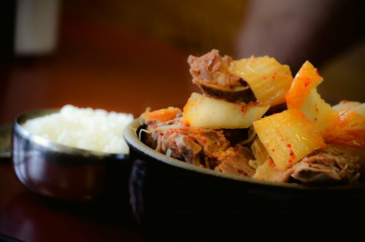 Food, Gamjatang in Hot Stone #Koreatown ©Philip Kim/TheOrigami