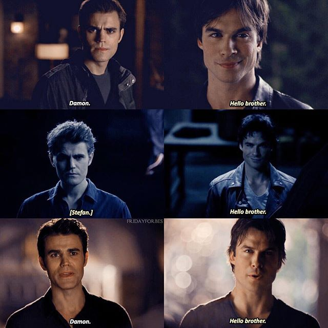 "#TVD 1x01|8x01|8x16 - ""Hello brother"" - #StefanSalvatore #DamonSalvatore"