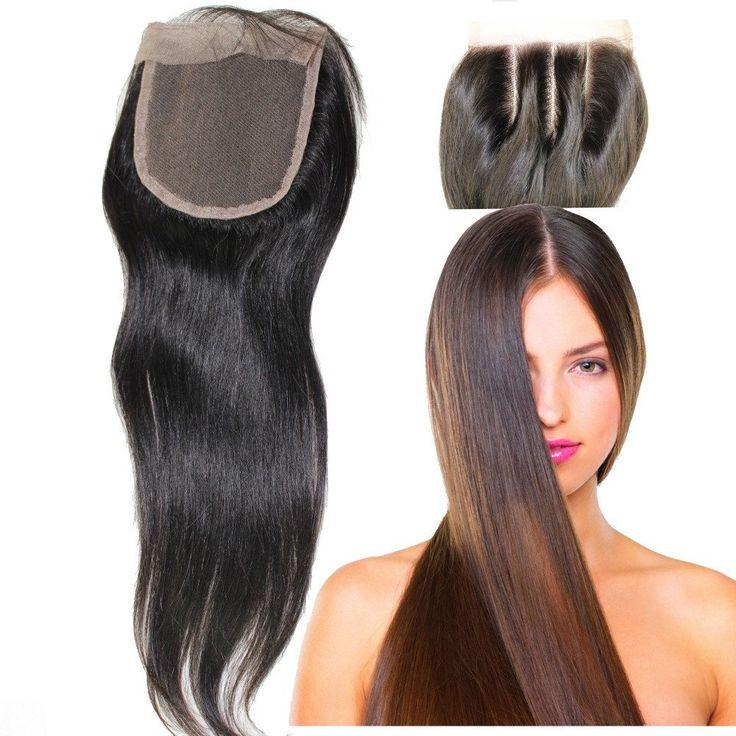 8A Brazilian Virgin 100% Human Hair Closures Straight Lace Closure 3 W – Stylish n Trendier