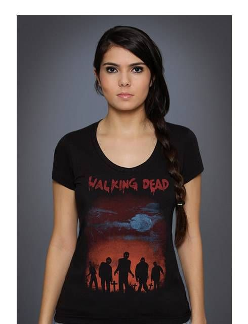 Camiseta feminina Os Mortos Vivos