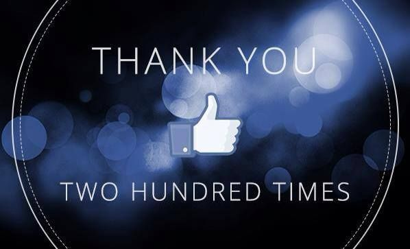 We have reached 200 likes on our fan page on facebook www.facebook.com/HouseLanzarote - THANK YOU TWO HUNDRED TIMES!