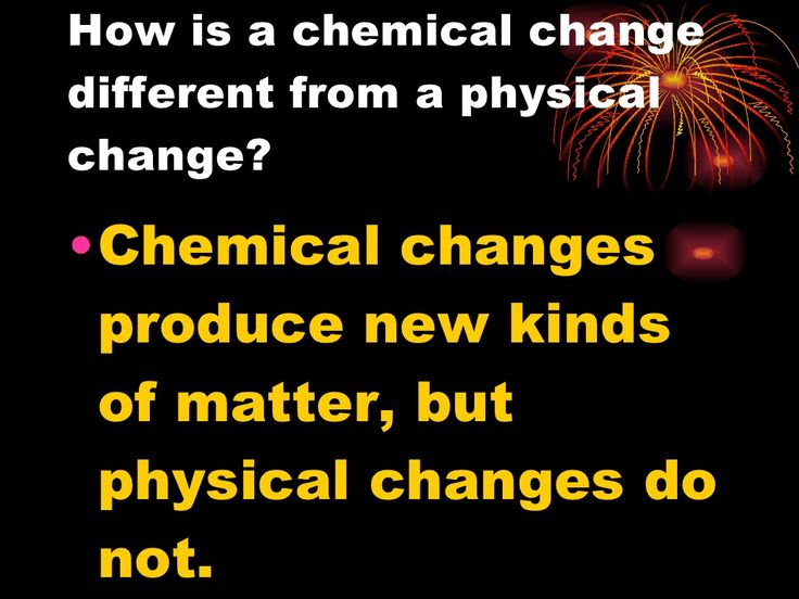What Are Chemical Changes In Matter